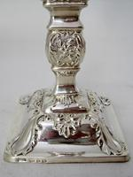 Pair of Ornate Late Victorian Silver Candlesticks (5 of 7)