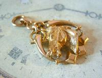 Victorian Pocket Watch Chain Horse & Pony Fob 1890s 10ct Rose Gold Filled Equestrian Fob (4 of 9)