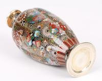 Oriental, Chinese / Japanese Exceptional Silver Metal Cloisonne Vase (12 of 25)