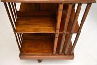 Antique Victorian Walnut Revolving Bookcase (5 of 10)