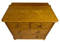 A Victorian Birch Satinwood Chest of Drawers (4 of 7)