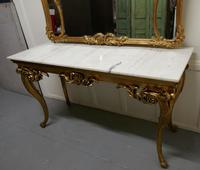 19th Century French Marble Top Gilt Centre Table & Matching Wall Mirror (5 of 11)