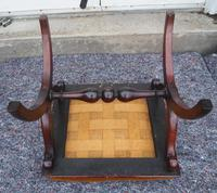 Victorian Rosewood x-frame Stool (2 of 6)