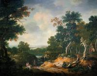 Exceptional Large 1700s Old Master Giltwood Landscape Oil on Canvas Painting (16 of 17)