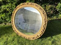 Early 18th Century Carved Giltwood Oval Mirror (5 of 6)