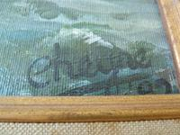 """Fine """"Lifeboat in Stormy Sea"""" oil on canvas- signed """"Cheyne """" (5 of 5)"""
