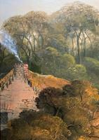 Large Stunning 19thc Arcadian Landscape Oil Painting in the 18th Century manner (10 of 13)