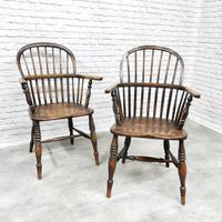 Near Pair of Stickback Windsor Armchairs (2 of 8)