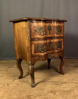 French Walnut Shaped Front Commode Chest (3 of 10)
