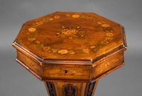 Victorian Inlaid Walnut Needlework Table (3 of 11)