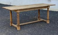 Rustic Bleached Oak Farmhouse Dining Table (17 of 25)