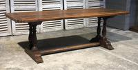 French Oak Farmhouse Refectory Dining Table (7 of 20)