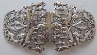 1895 Julius Louis Rosenthal London Hallmarked Solid Silver Nurses Belt Buckle (2 of 7)