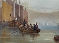 19th Century British School - Masted Ships - Military - Marine - Watercolour Painting (6 of 10)