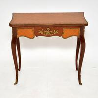 Antique French Inlaid Parquetry Card Table (2 of 12)