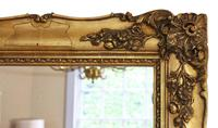 Antique Large Quality 19th Century Gilt Wall Mirror Overmantle (4 of 10)