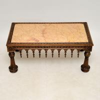 Antique Carved Marble Top Coffee Table (3 of 14)