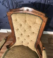Quality Victorian Walnut Armchair (4 of 14)