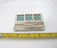 Victorian Silver Triple Stamp Box Henry Matthews Chester 1901 (6 of 6)