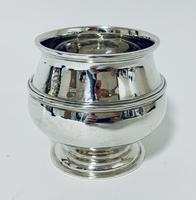 Antique Solid Sterling Silver Sugar Bowl by Walker & Hall (5 of 12)