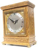 Perfect Vintage Mantel Clock Bracket Clock by Elliott of London Retailed by G H Pressley & Sons (5 of 8)