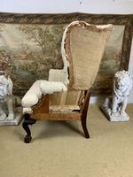 Large Wingback Armchair for Recovering (9 of 10)