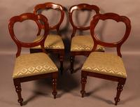 Good Set of 12 Victorian Mahogany Balloon Back Dining Chairs (3 of 9)