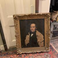 Antique large Georgian oil painting portrait of a gentleman Stanley Jones of Broadgate, Ludlow (10 of 13)