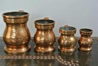4 Gaskell & Chambers Antique Bell Metal Baluster Measures 1/2 Pint to 1/4 Gill (5 of 9)