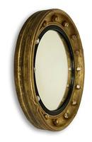 Regency Gilt Round Convex Mirror (2 of 5)