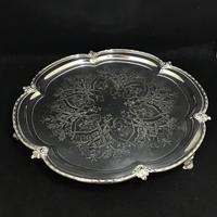 Aesthetic Movement   Chased Silver Plated Drinks Tray (4 of 6)