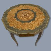 Italian Dodecagon Marquetry Musical Side Table (6 of 8)