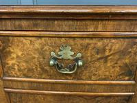 Burr Walnut Bow Fronted Desk / Table c.1910 (5 of 13)
