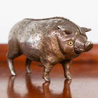 Rare Clockwork Butchers Shop Counter Pig with Bell (5 of 11)