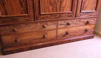 Antique Victorian Mahogany Triple Door Wardrobe (18 of 21)