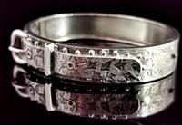 Antique Victorian Silver Buckle Bangle (5 of 11)