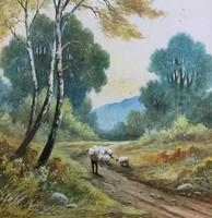 Near Darley Dale 19thc Derbyshire Sheppard Sheep  Landscape Watercolour Painting (9 of 13)