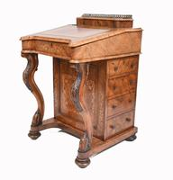 Victorian Davenport Desk Walnut Inlay c.1860 (3 of 14)