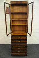 Quality Mahogany Campaign Bookcase on Chest (3 of 9)