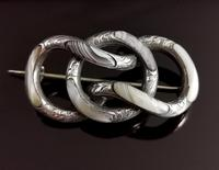 Antique Victorian Scottish Agate & Silver Knot Brooch (4 of 11)