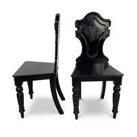 Ebonised Hall Chairs (2 of 4)