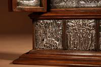 Fine and Very Decorative Russian Triptych Devotional Icon 19th Century (5 of 12)
