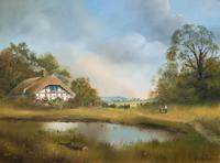 Lovely 'Chocolate Box Quality' Vintage 20thc English Landscape Oil Painting (14 of 15)