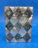 Victorian Mother of Pearl & Abalone Card Case (2 of 11)