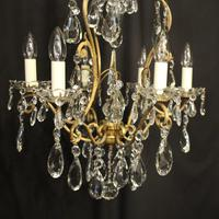 French Gilded Birdcage Antique Chandelier (7 of 10)