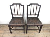 Pair of Antique Carved Oak Hall Chairs (2 of 13)