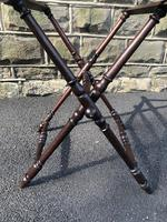 Antique Oak Butlers Tray Stand (5 of 5)