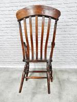 Large Grandfather Windsor Slatback Armchair (4 of 7)