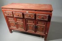 Finely Carved Early 20th Century Oriental Sideboard (4 of 6)