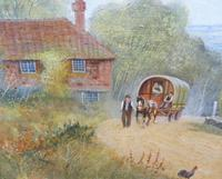 Large oil on canvas English countryside view  Listed artist Richard Temple (Free shipping to Mainland England) (10 of 10)